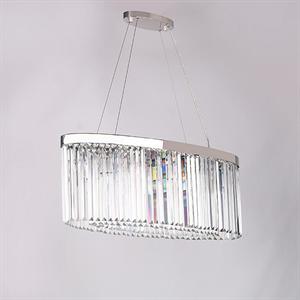 Подвесной светильник New York, Nickel Clear crystal 90*30*H35 cm