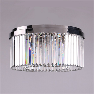 Потолочный светильник New York, Nickel Clear crystal D50*H22.5 cm