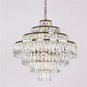 Люстра Los Angeles, Polished champagne gold Clear crystal D60*H56/156 cm