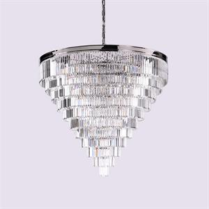 Подвесной светильник Portland, Nickel Clear crystal D150*H100 cm