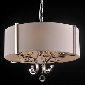 Подвесной светильник Memphis, Nickel Clear crystal Shade beige D64*H43/163 сm