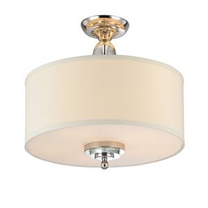 Потолочный светильник Memphis, Nickel Clear crystal Shade beige D70*H43,5 cm