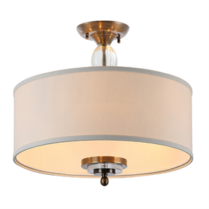 Потолочный светильник Memphis, Black brass Clear crystal Shade beige D70*H43,5 cm
