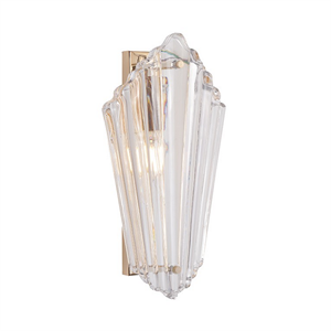 Бра Gilbert, Light gold Clear glass L9*H30*Sp16.5 cm