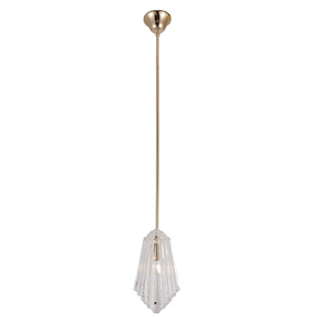 Подвесной светильник Gilbert, Light gold Clear glass L16.5*8*H30 cm
