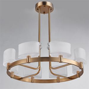 Потолочный светильник Cleveland, French gold White matt glass D64*H20 cm