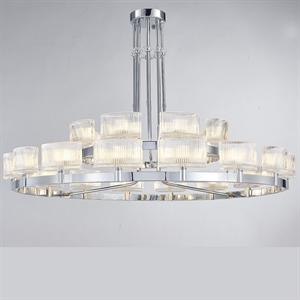 Люстра Cleveland, Chrome Clear glass D115*H50 cm