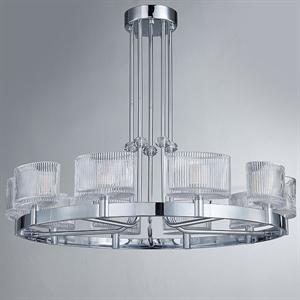 Люстра Cleveland, Chrome Clear glass D80*H36 cm