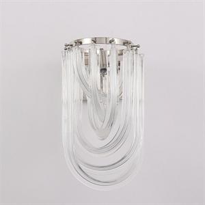 Бра Orlando, Polished nickel Clear glass L20*H35*Sp26 см