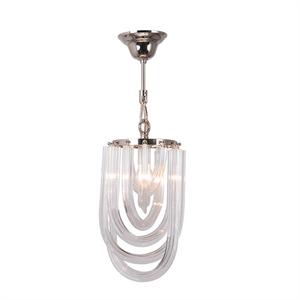 Подвесной светильник Orlando, Polished nickel Clear glass D20*H35 см