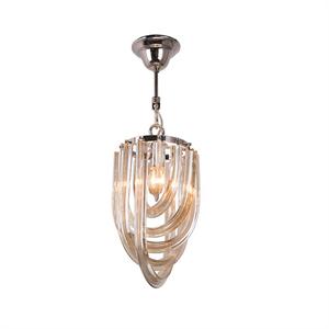 Подвесной светильник Orlando, Polished nickel Cognac glass D20*H35 см
