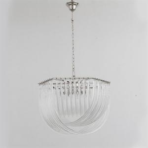 Подвесной светильник Orlando, Polished nickel Clear glass D65*H46 см