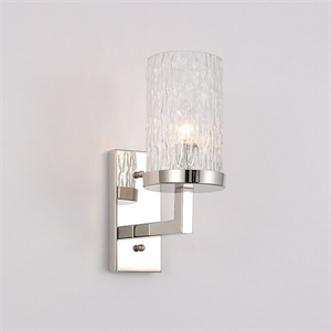 Бра Irvine, Polished nickel Clear glass L11.5*H29.5*Sp20 cm