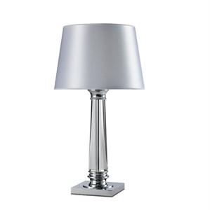 Настольная лампа Chandler, Chrome Glass clear White shade D38*H72 cm
