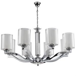 Люстра Chandler, Chrome Glass clear/matt white D75.5*H40