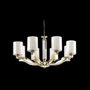 Люстра Chandler, Gold Glass smoky/matt white D75.5*H40 cm