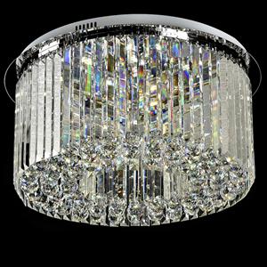 Потолочный светильник Madison, Chrome Clear glass D60*H25 cm