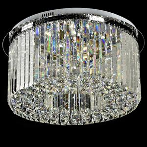 Потолочный светильник Madison, Chrome Clear glass D80*H25 cm