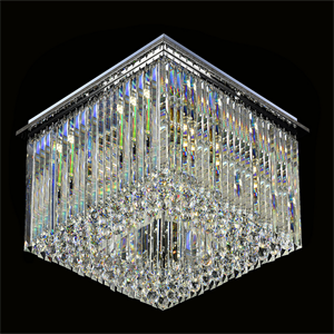 Потолочный светильник Scottsdale, Chrome Clear glass 40*40*H18 cm