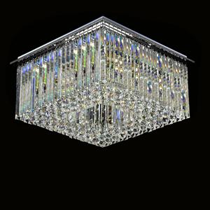 Потолочный светильник Scottsdale, Chrome Clear glass 60*60*H25 cm