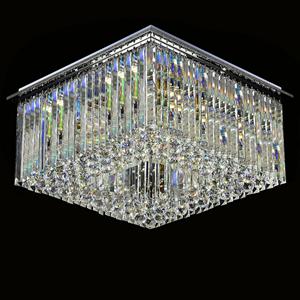 Потолочный светильник Scottsdale, Chrome Clear glass 80*80*H25 cm