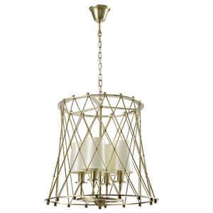 Подвесной светильник American style, Matt brass Shade beige D44*H46.8 cm