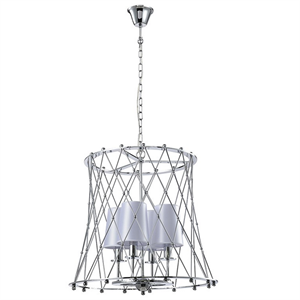 Подвесной светильник American style, Сhrome Shade white D44*H46.8 cm