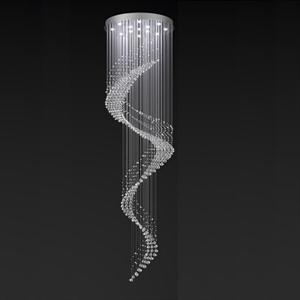 Потолочный светильник American style, Сlear crystal D80*H300 см