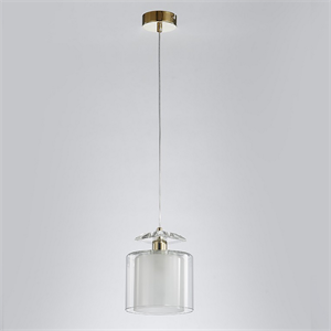 Подвесной светильник Pittsburgh, Gold Clear crystal Clear glass D15*H19/269 cm
