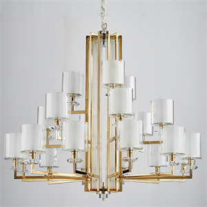 Люстра Pittsburgh, Gold Clear crystal Clear glass D130*H86 cm