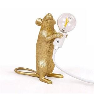 Настольная Лампа Мышь Mouse Lamp #1  H15 см Золотая