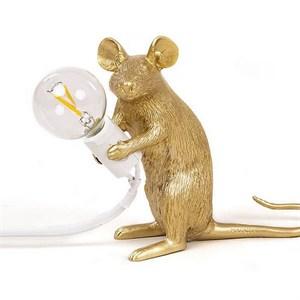 Настольная Лампа Мышь Mouse Lamp #2  H12 см Золотая
