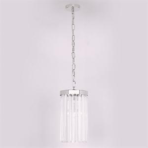 Подвесной светильник New York, Nickel Clear crystal D18*H32/132