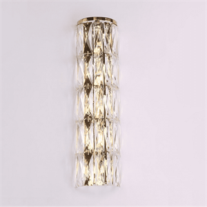 Бра Los Angeles, Polished champagne gold Clear crystal L14*H52.5*Sp9 cm