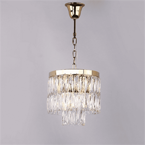 Люстра Los Angeles, Polished champagne gold Clear crystal D30*H30/130 cm