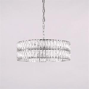 Люстра Los Angeles, Chrome Clear crystal D63*H20/120 cm