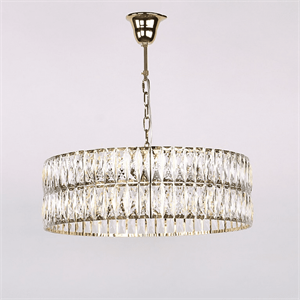 Люстра Los Angeles, Polished champagne gold Clear crystal D63*H20/120 cm