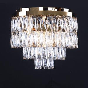 Потолочный светильник Los Angeles, Polished champagne gold Clear crystal D45*H40 cm
