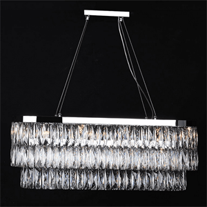 Подвесной светильник Los Angeles, Chrome Clear crystal 90*28*H34/134 cm