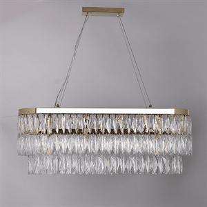 Подвесной светильник Los Angeles, Polished champagne gold Clear crystal 90*28*H34/134 cm