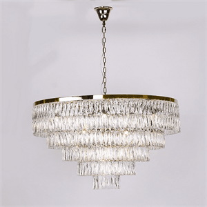 Люстра Los Angeles, Polished champagne gold Clear crystal D110*H64/214 cm
