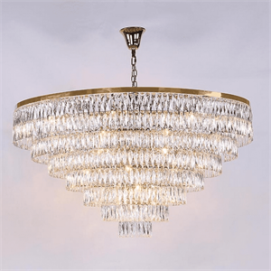 Люстра Los Angeles, Polished champagne gold Clear crystal D155*H85/235 cm