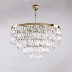 Люстра Los Angeles, Polished champagne gold Clear crystal D80*H48 cm