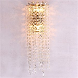 Бра San Antonio, Polished champagne gold Clear crystal L15*H50*Sp15 cm