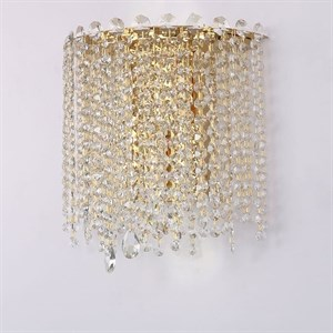 Бра San Antonio, Polished champagne gold Clear crystal L31*H30*Sp15 cm