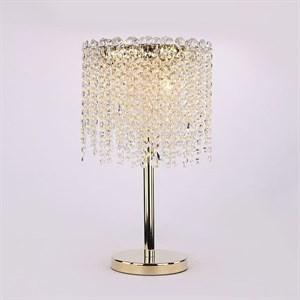 Настольная лампа San Antonio, Polished champagne gold Clear crystal D30*H50 cm
