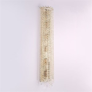 Бра San Antonio, Polished champagne gold Clear crystal L20*H100*Sp10 cm
