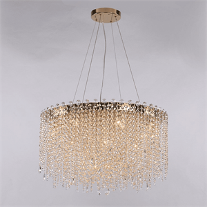 Люстра San Antonio, Polished champagne gold Clear crystal D61*H36 cm