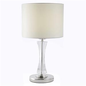 Настольная лампа Dallas, Nickel Clear crystal Shade beige D23*H52 cm