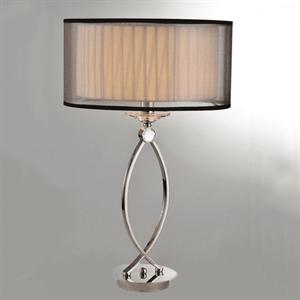 Настольная лампа Nashville, Nickel Clear crystal D36*H57 cm БЕЗ АБАЖУРОВ